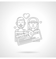 Journey for lovers detailed line icon vector image vector image