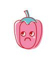 kawaii cute sad pepper vegetable vector image vector image