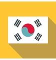 Korean flag icon flat style vector image