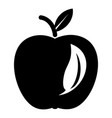 leaf apple icon simple black style vector image vector image