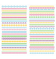 line borders color pattern dividers with lines vector image