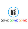 litecoin panic falling chart rounded icon vector image vector image