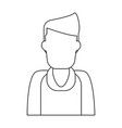 man faceless profile black and white vector image vector image
