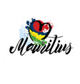 mauritius country flag concept with grunge design vector image vector image