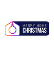 merry home christmas 2020 card with funny vector image