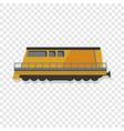 modern locomotive icon cartoon style vector image