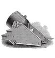 Mortar cannon vintage engraving vector image vector image