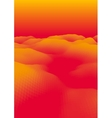 Orange Abstract Polygonal Landscape vector image