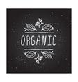 Organic - product label on chalkboard vector image vector image