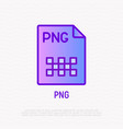png file format thin line icon modern vector image vector image