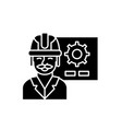 production presentation black icon sign on vector image vector image