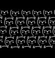 seamless pattern with cute and funny black cats vector image vector image