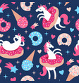 seamless pattern with fun vector image vector image