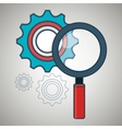 search gear teamwork icon vector image