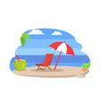 seaside sunny beach island vector image vector image