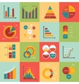 set business data market elements diagrams vector image