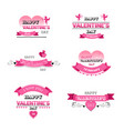 set love greeting cards happy valentines day vector image