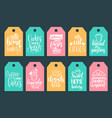 set of bakery hand lettering tags vector image vector image