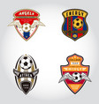 set of soccer badge logo vector image vector image