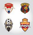 set soccer badge logo vector image