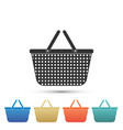 shopping basket icon isolated on white background vector image vector image