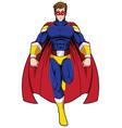 superhero mascot flying vector image vector image