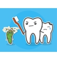Tooth defending bitten little friend vector image vector image