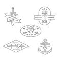 vintage and retro style logos design vector image vector image