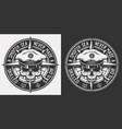 vintage nautical monochrome emblem vector image vector image