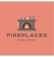warm and cozy fireplace flat vector image