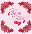 watercolor floral wedding invitation card vector image