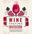 wine retro poster pictures of wine glass and vector image