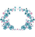 wreath of delicate blue flowers vector image vector image