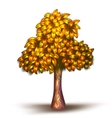 yellow tree vector image