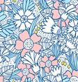 Blue flowers pattern vector image