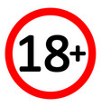 18 age restriction sign vector image vector image