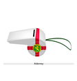 A Beautiful White Whistle of Alderney Flag vector image vector image