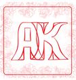 AK monogram vector image vector image