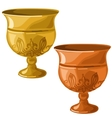 Antique gold and copper bowl isolated vector image vector image