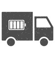 Battery Delivery Truck Icon Rubber Stamp vector image vector image