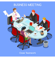 Business Room 03 People Isometric vector image vector image