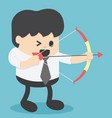 businessman shooting archery vector image vector image