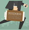 businessman working vector image vector image