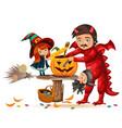carving halloweens pumpkin vector image vector image