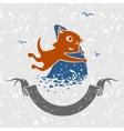 Cat Fisherman vector image vector image