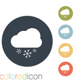 cloud snow the weather icon vector image