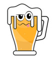 colored drunk beer glass icon vector image vector image