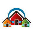 colorful set collection houses icon design vector image