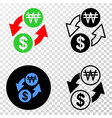 composition of gradiented dotted dollar exchange vector image vector image