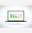computer battery charging icon vector image vector image